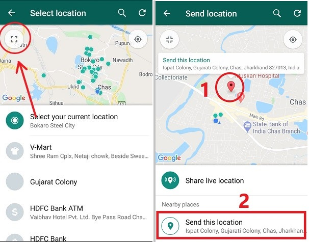 How to send fake live location on WhatsApp for Android/iOS