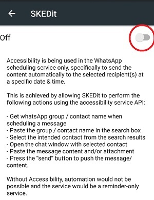 schedule messages on Whatsapp in Android