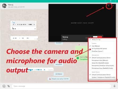 How to do WhatsApp Video Call on PC
