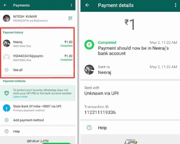how to make payments through whatsapp